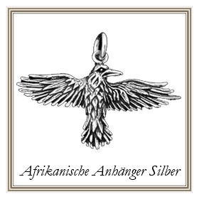 Afrikanische Anhänger aus Silber