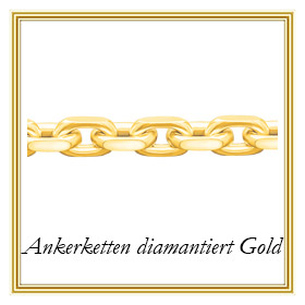 Ankerketten diamantiert aus Gold