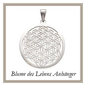 Blume des Lebens Anhänger aus Silber