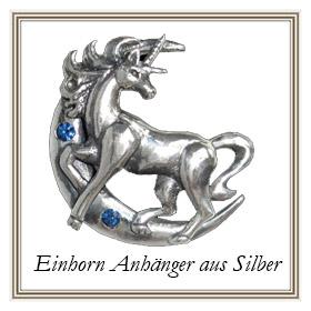 Einhorn Anhänger aus Silber