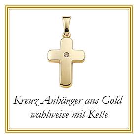 Kreuz Anhänger aus Gold
