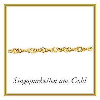Singapurketten aus Gold