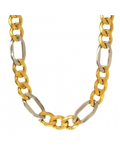 5,7 mm 50 cm 333 - 8 Karat Gelbgold Figarokette massiv Gold hochwertige Halskette 9,4 g