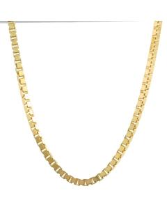 1,4 mm 50 cm 585 - 14 Karat Gelbgold Venezianerkette massiv Gold hochwertige Halskette 6,8 g