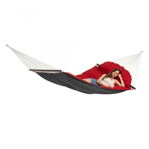 Exclusive gepolsterte Hängematte FAT HAMMOCK red Amazonas
