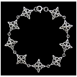 Armkette Celtic Schmuck 925er Silber 18 cm Keltischer Knoten Muster Armband
