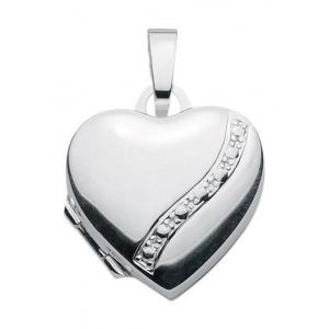 Anhänger Medaillon Herz 925 Silber