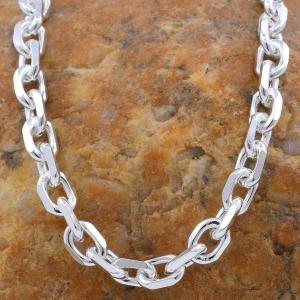 5,7 mm 55 cm 925 Sterlingsilber Ankerkette diamantiert massiv Silber hochwertige Halskette 41,4 g