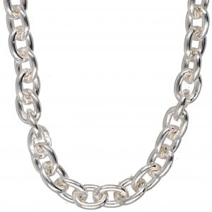 Silberkette Ankerkette  6,2 mm 55 cm massiv 925 Sterlingsilber hochwertige Halskette
