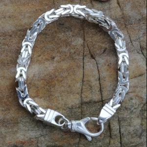 4,7 mm 23 cm 925 Sterlingsilber Königskette massiv Silber hochwertige Armkette 30,3 g