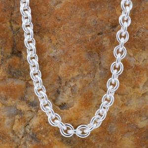 4,0 mm 60 cm 925 Sterlingsilber Ankerkette rund massiv Silber hochwertige Halskette 22,1 g