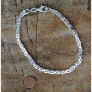 4,0 mm 21 cm 925 Sterlingsilber Königskette massiv Silber hochwertige Armkette 19,3 g