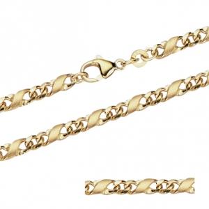 3,7 mm 50 cm 333 - 8 Karat Gelbgold Dollar Kette massiv Gold hochwertige Halskette 19,4 g
