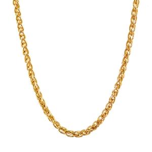 1,3 mm 45 cm 333 - 8 Karat Gelbgold Zopfkette massiv Gold hochwertige Halskette 2,5 g