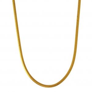 1,4 mm 50 cm 333 - 8 Karat Gelbgold Schlangenkette rund massiv Gold hochwertige Halskette 3,9 g