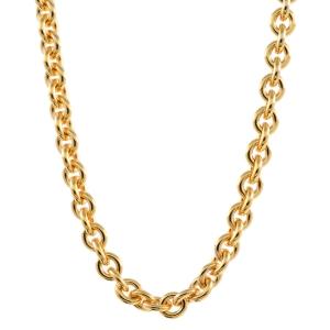 2,4 mm 60 cm 585 - 14 Karat Gelbgold Ankerkette rund massiv Gold hochwertige Halskette 9,6 g