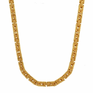 2,3 mm 55 cm 585 - 14 Karat Gelbgold Königskette massiv Gold hochwertige Halskette 23,8 g