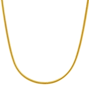 1,1 mm 45 cm 585 - 14 Karat Gelbgold Schlangenkette rund massiv Gold hochwertige Halskette 4,8 g
