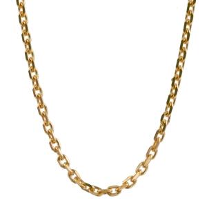 1,3 mm 50 cm 585 - 14 Karat Gelbgold Ankerkette diamantiert massiv Gold hochwertige Halskette 4,5 g