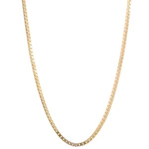 0,8 mm 55 cm 585 - 14 Karat Gelbgold Venezianerkette massiv Gold hochwertige Halskette 2,3 g