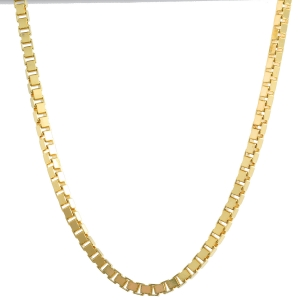 1,4 mm 45 cm 585 - 14 Karat Gelbgold Venezianerkette massiv Gold hochwertige Halskette 6,3 g
