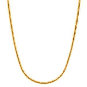 0,9 mm 42 cm 750 - 18 Karat Gelbgold Schlangenkette rund massiv Gold hochwertige Halskette 4,3 g