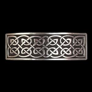 Große Keltische Haarspange Zinn 9cm x 2,9cm