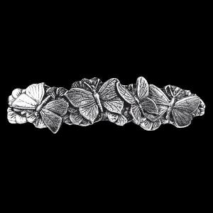 Haarspange Schmetterlinge Schmuck Zinn 7,8cm x 2,0cm