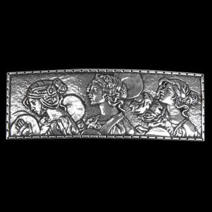 Haarspange Lady-Parade Schmuck Zinn 8,8cm x 3cm