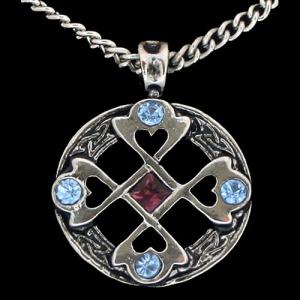 Keltisches Kreuz - Herz Anhänger Schmuck - Kreuze - 36x29mm