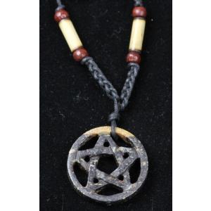 Pentagramm Speckstein Anhänger Schmuck Fünfstern Drudenstern handmade