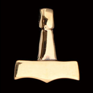 Massiver Thorhammer Bronze - Thorhammer - 22x26mm